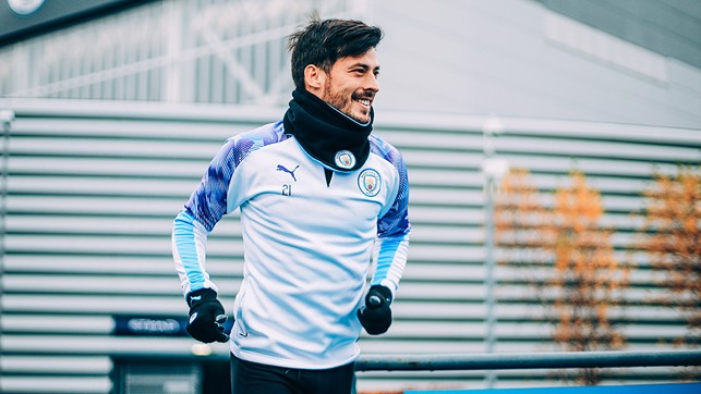 SOLID SILVA: El Mago was all smiles ahead of Wednesday's session