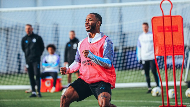 RAZZLE DAZZLE: Raheem Sterling takes centre stage as City prepare to lock horns with United once again