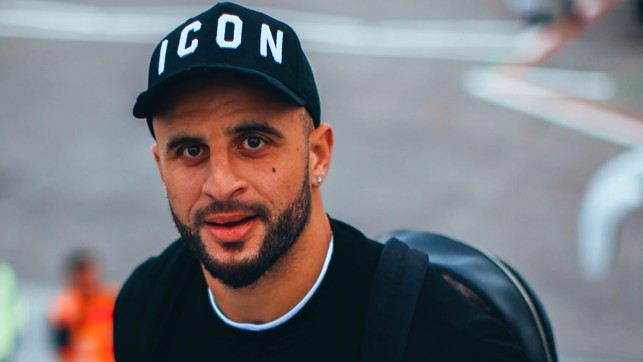 MAN OF THE MOMENT: Kyle Walker was in upbeat mood following his last-gasp heroics against Southampton at the weekend