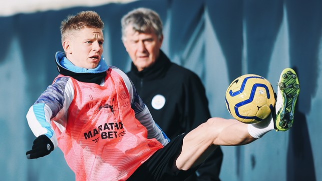 CLOSE CONTROL: Great to see Oleksandr Zinchenko nearing a return from injury!