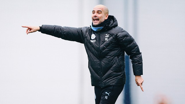 PEP TALK: The boss dishes out some instructions during the session
