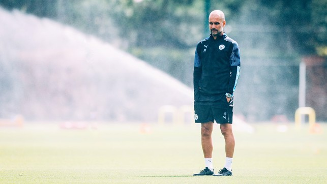 PEP: The gaffer, back and as ever, thinking