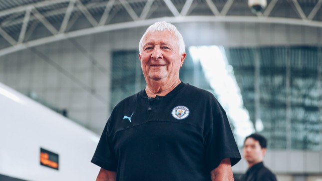 BUZZER: Club ambassador Mike Summerbee will be there to cheer the boys on.