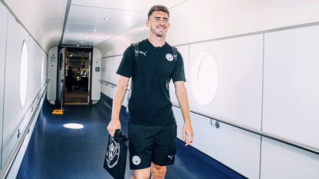 YOU'LL BE MY AYMERIC LAPORTE: The French centre-half looks relaxed. Let's hope he picks up where he left off last season!