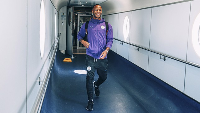 STERLING ENTRANCE: Raheem is back!