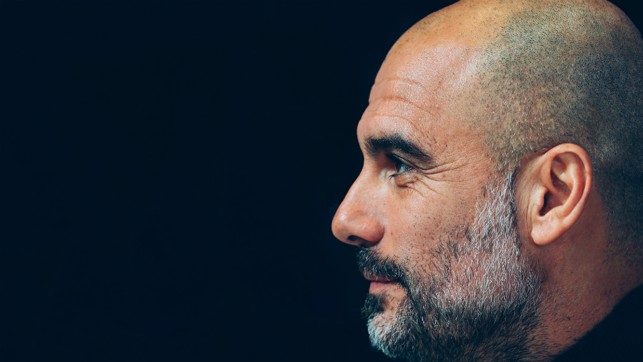 DEEP IN THOUGHT: Pep Guardiola.