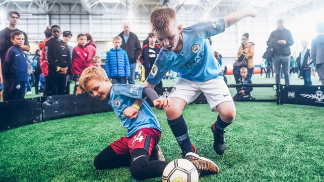 ACTION SHOT: Our young Blues were showed off their skills!