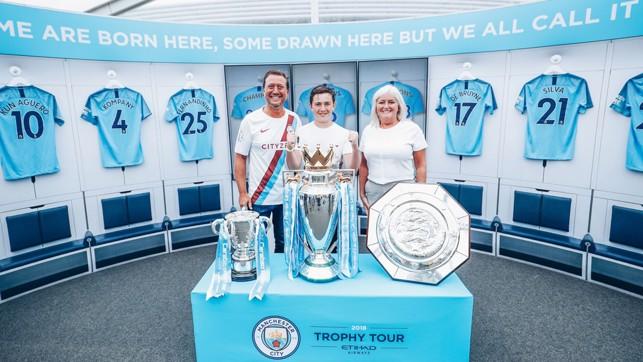 SILVERWARE: City's three trophies looked resplendent on display