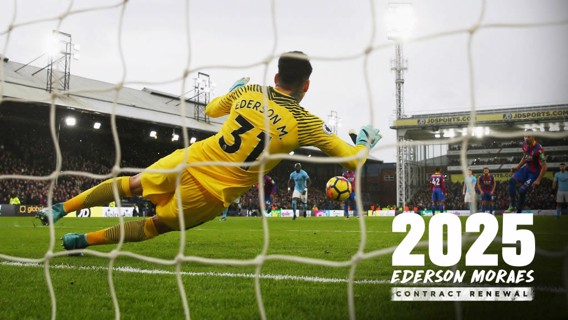 TOP SEASON: Ederson has signed a new deal