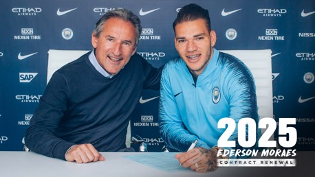 DONE DEAL: Director of Football Txiki Begiristain and Ederson