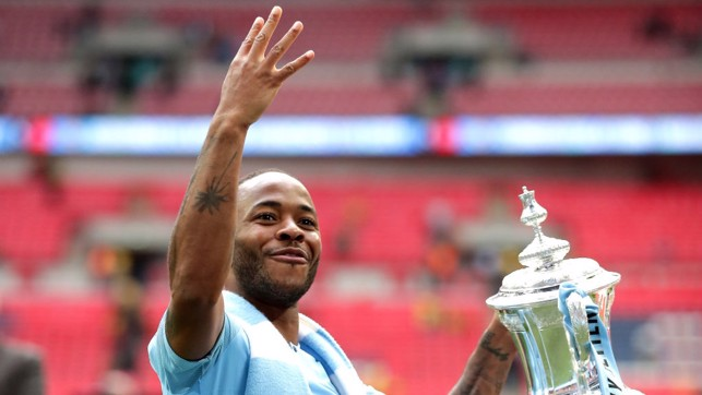 RAHEEM STERLING, HE'S TOP OF THE LEAGUE: He's also an FA Cup, League Cup and Community Shield winner...