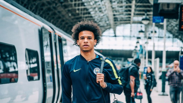 LONDON CALLING: Leroy Sane gets ready for the journey.