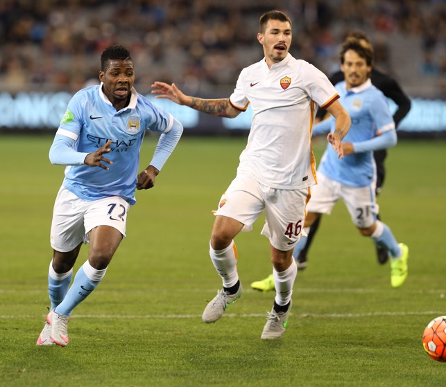 FIRST TEAM CHANCE: Iheanacho in action against Roma in 2015