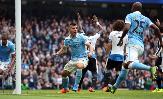 GOAL GLUT: Aguero netted five goals against Newcastle in 2015