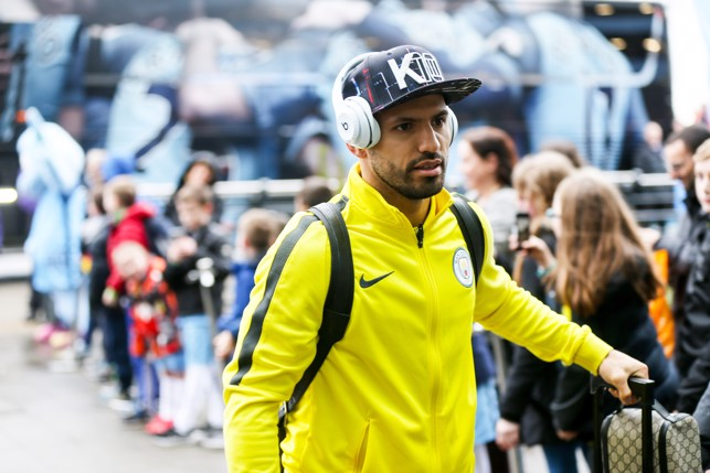 STYLING: Aguero arrives at the Etihad Stadium in style