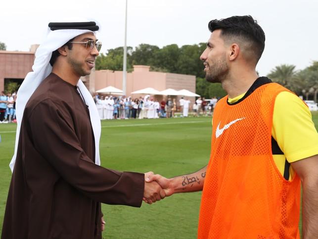 ABU DHABI: Aguero meets H.H Sheikh Mansour