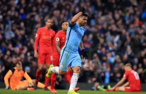 JOGÃO: Aguero marca contra o Liverpool num dos jogos mais intensos da temporada