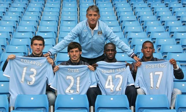 NEW BOYS: Aleksandar Kolarov after signing for the Blues in 2010