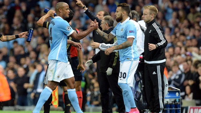 GOOD-LUCK: The Argentine makes his debut for City against Juventus in 2015