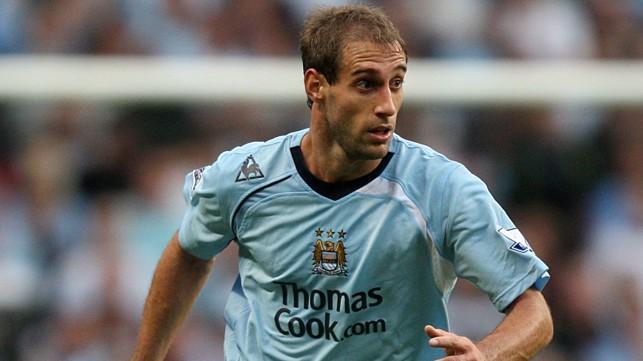 DEBUT: Pablo Zabaleta on his debut in 2008