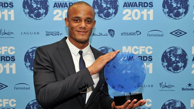 RECOGNISED: Kompany is named City player of the year in 2011