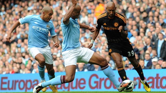 BRICK WALL: Kompany is named man of the match against Chelsea in 2010