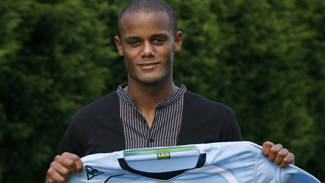 REMEMBER THE NAME: Vincent Kompany signed for City in 2008