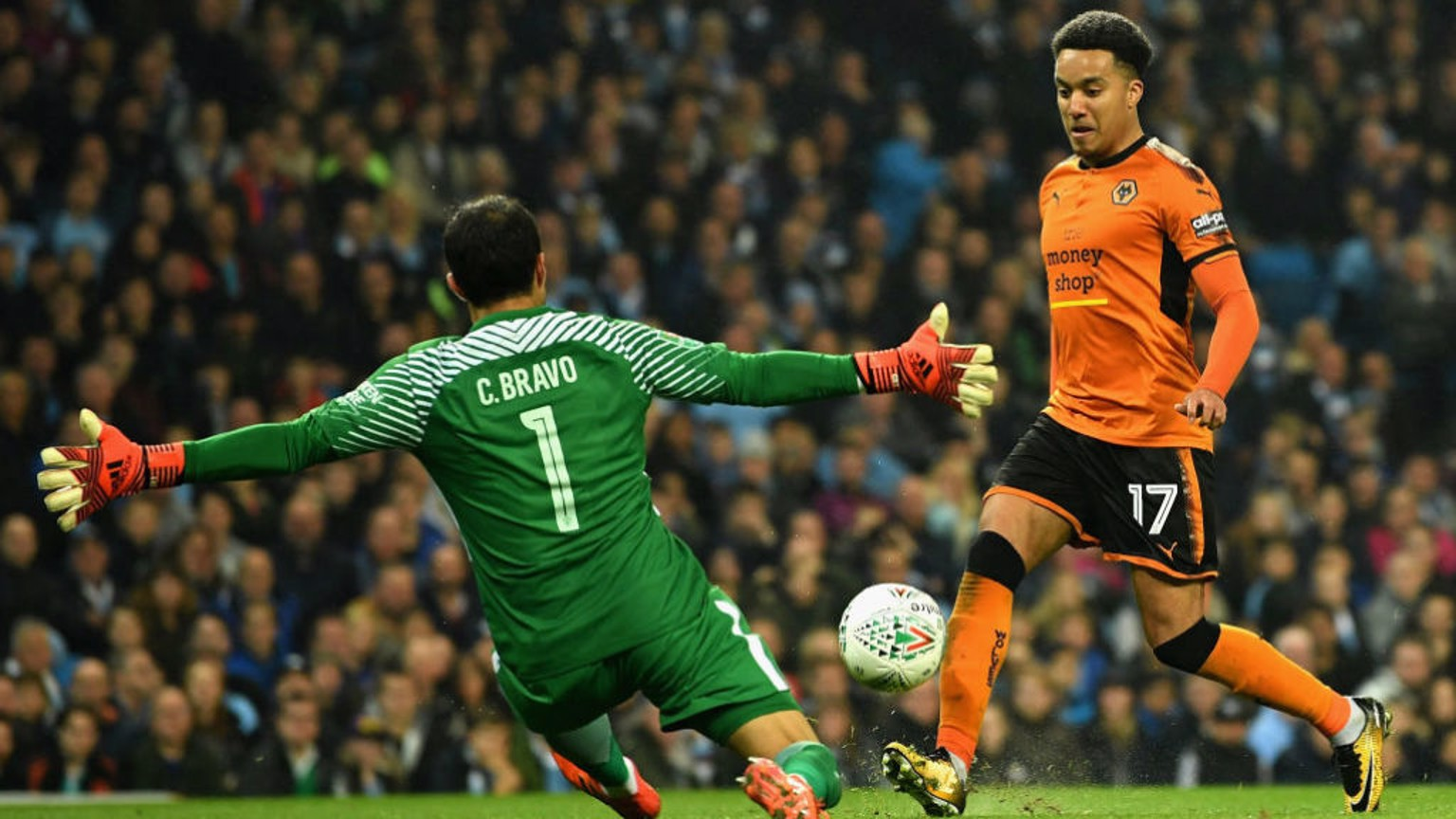 HAND IT TO CLAUDIO: City keeper Claudio Bravo denies Helder Costa