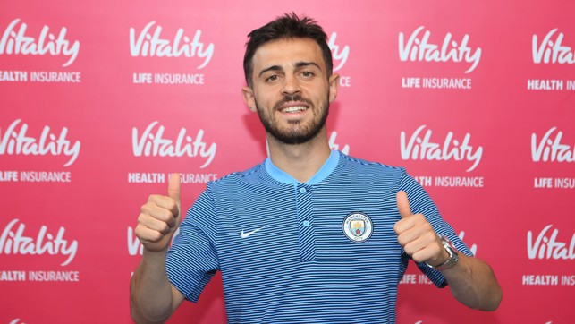 THUMBS UP: Silva in high spirits at City
