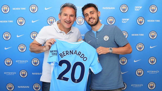 NUMBER 20: Silva will wear number twenty for City