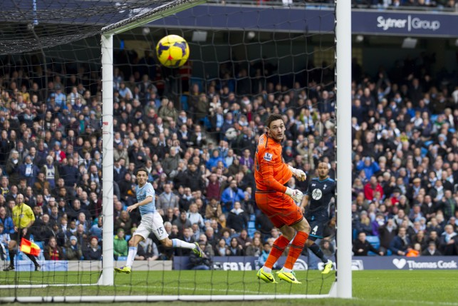 TOP CORNER: Navas opened his account in memorable fashion against Spurs.