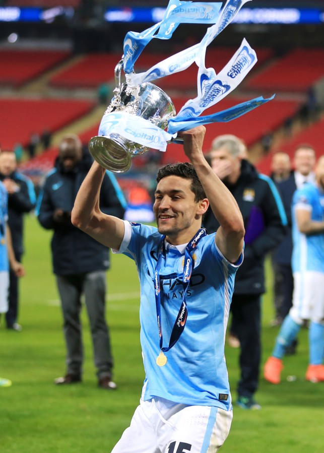 LIFT-OFF: Navas gets his hands on the League Cup for the second time.