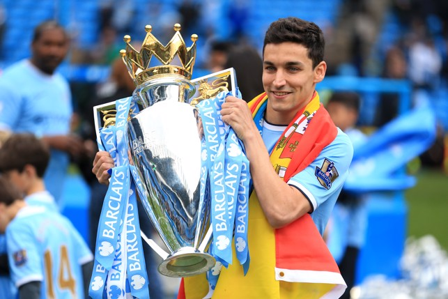 JOB DONE: Navas tasted Premier League success in his first season at the Club.