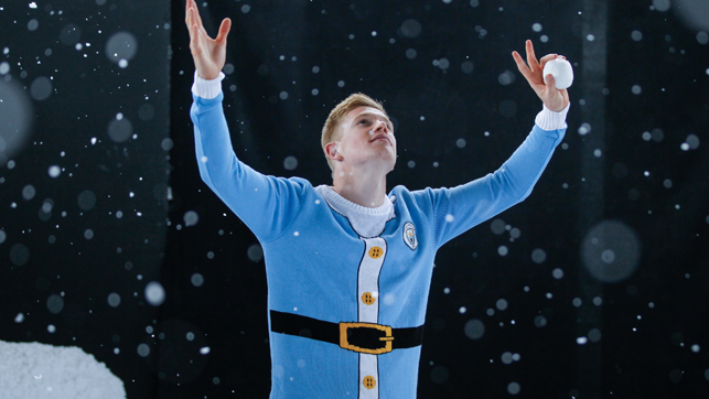 LET IT SNOW: Kev gets all festive!
