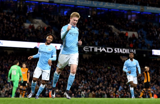 BRACE: De Bruyne strikes twice against Hull in 2015