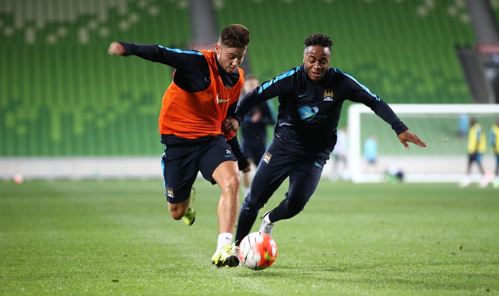 TRAINING TUSSLE: Roberts and Sterling tune up