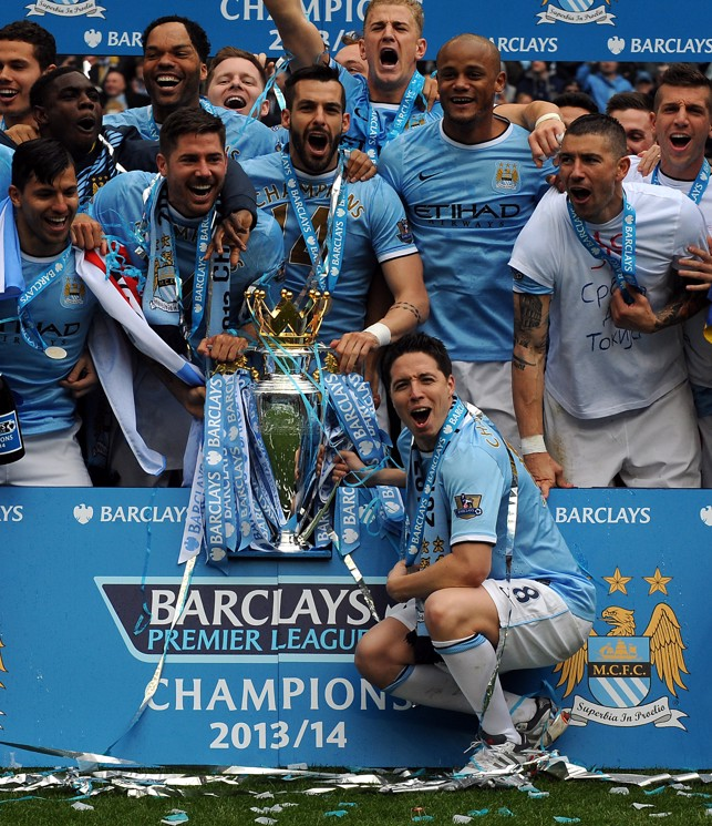 WE DID IT: Nasri tasted Premier League success again in 2014