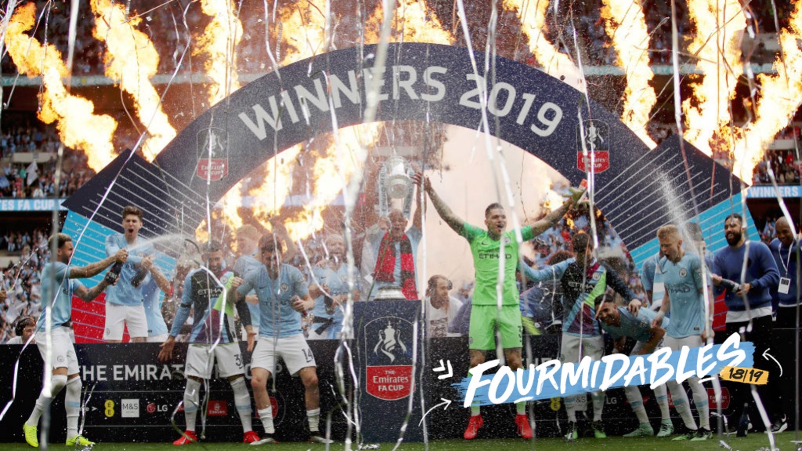 FOURMIDABLES: City have won all four major English trophies in one season.