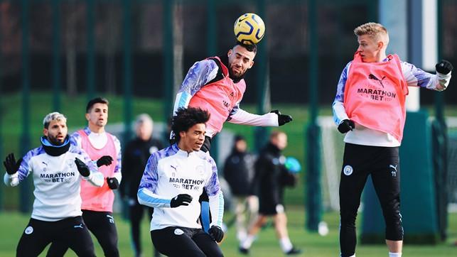 NICO'S BALL: Otamendi takes control