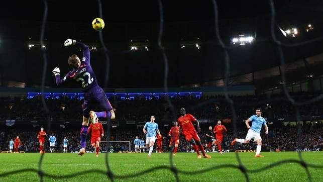 A BEAUTY FROM THE BEAST: Alvaro Negredo scores on Boxing Day in 2013