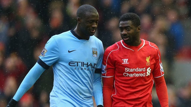 BROTHERS IN ARMS: Yaya and Kolo Toure in 2015