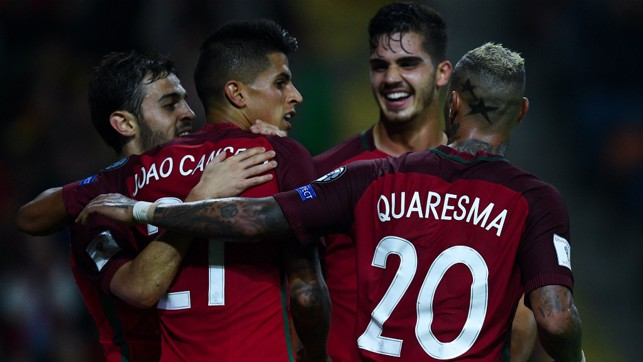 COMPATRIOTS: Joao joins fellow Portugal star Bernardo Silva in Manchester