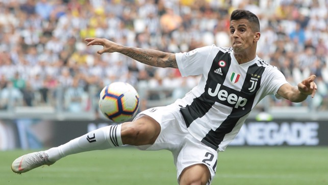 JOAO JOY: Cancelo continued to impress in Turin, winning praise for his forward forays and his committed attacking play.