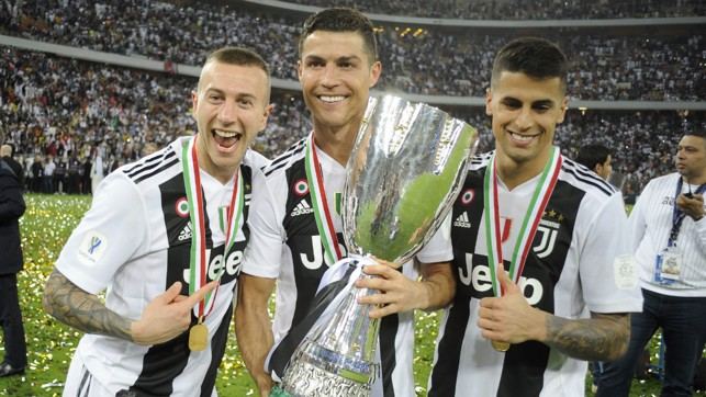 SILVERWARE: Lifting the 2018 Supercoppa Italiana