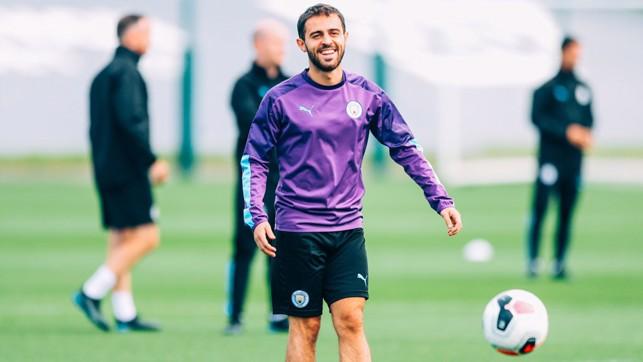 MAGIC MAN: Bernardo Silva was enjoying himself.