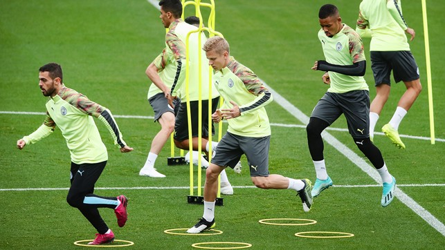 SPEED LIMIT: The session steps up a pace
