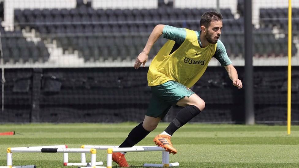 SPRINT: Bernardo hops over the hurdles