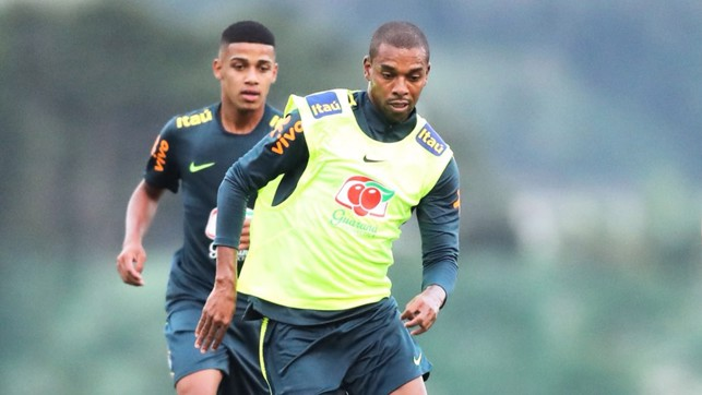 WAY AHEAD: Fernandinho leads the pack