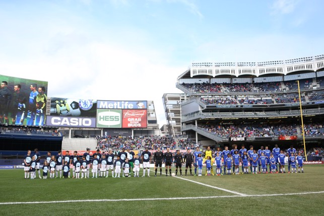 2013: Post season showdown with Chelsea at Yankee Stadium