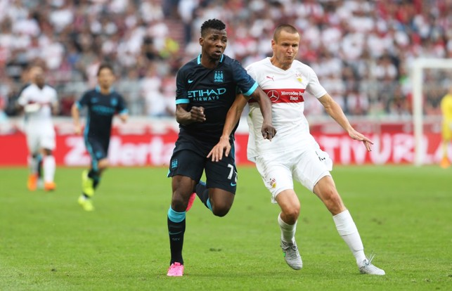 2015: Kelechi in action against Stuttgart.